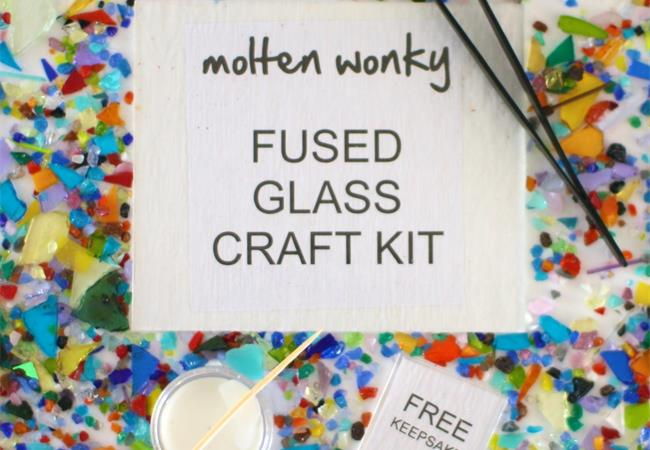 Make at home glass fusing kits by molten wonky