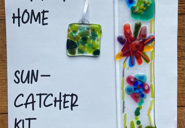 make at home glass sun-catcher craft kit