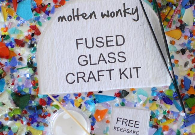 glass craft fusing kits to make at home