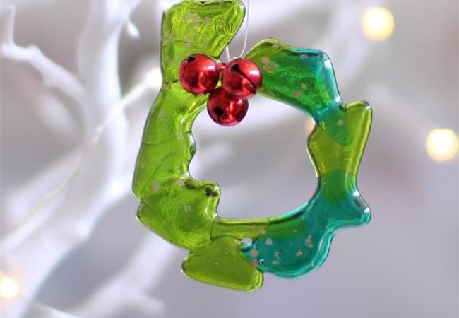 fused glass wreath
