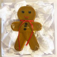 fused glass gingerbread man