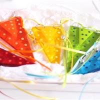 jester fused glass bunting