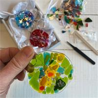 mini bauble make at home glass fusing kit