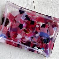 recycled fused glass soap dish
