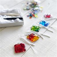 small decoration make at home glass fusing kit