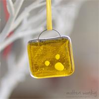 yellow fused glass nugget
