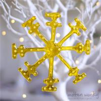 fused glass snowflake